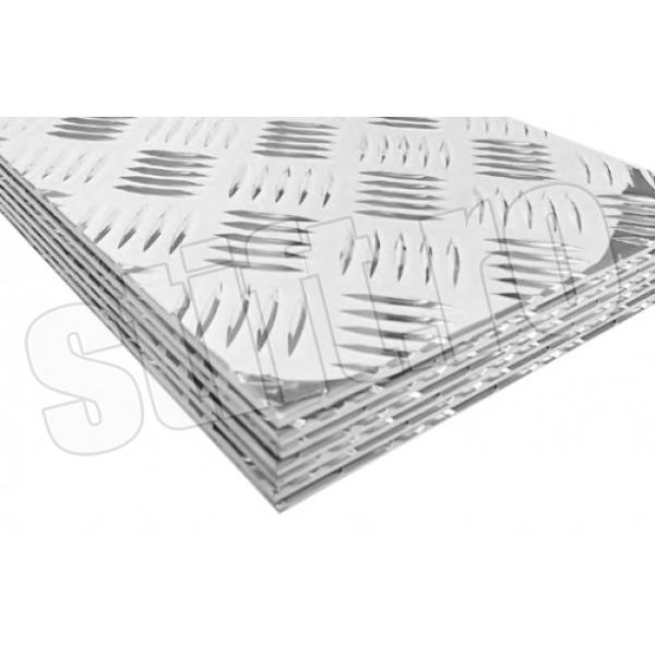 Tabla striata aluminiu quintet 1000x2000x2.0mm