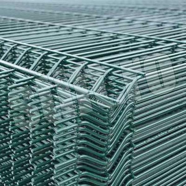 Panou bordurat zincat plastifiat verde PBZV 2.0x2.0/4mm