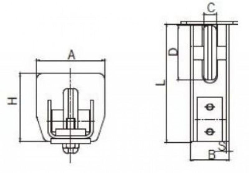 Rulment capat poarta 25-292/L
