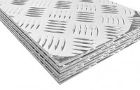Tabla striata aluminiu quintet 1000x2000x3.0mm